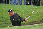 Miguel Andel Jimenez chips out of the bunker on the 3rd green during the 3rd round of the BMW PGA Championship at Wentworth Club, Surrey, England 26th may 2007 (Photo by Eoin Clarke/NEWSFILE)