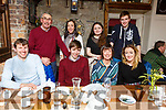 Enjoying the evening out in the Croi Restuarant on Saturday night. <br /> Seated l to r: Pat O&rsquo;Sullivan, Hugh, Mairead and Kate McSweeney.<br /> Standing l to r: Denny and Niamh McSeeeney, Molly Bonar and Donnach McSweeney.