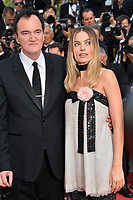 "CANNES, FRANCE. May 21, 2019: Quentin Tarantino & Margot Robbie at the gala premiere for ""Once Upon a Time in Hollywood"" at the Festival de Cannes.<br /> Picture: Paul Smith / Featureflash"