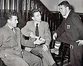 Celtic legend Sean Fallon photographed in the 1950's with fellow players Bertie Peacock (centre) and Bobby Collins (right) - Picture by Donald MacLeod - 17.03.11 - 07702 319 738 - www.donald-macleod.com - clanmacleod@btinternet.com