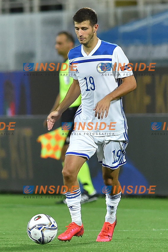 Branimir Cipetic of Bosnia in action during the Uefa Nation League Group Stage A1 football match between Italy and Bosnia at Artemio Franchi Stadium in Firenze (Italy), September, 4, 2020. Photo Massimo Insabato / Insidefoto