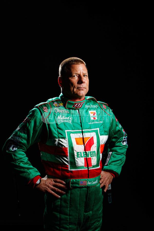 Feb 8, 2017; Pomona, CA, USA; NHRA funny car driver Jim Campbell poses for a portrait during media day at Auto Club Raceway at Pomona. Mandatory Credit: Mark J. Rebilas-USA TODAY Sports