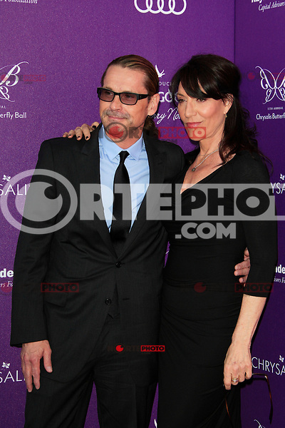 Katey Sagal, Kurt Sutter  attending the 11th Annual Chrysalis Butterfly Ball held at a private residence in Los Angeles, California on 9.6.2012..Credit: Martin Smith/face to face /MediaPunch Inc. ***FOR USA ONLY*** NORTEPHOTO.COM