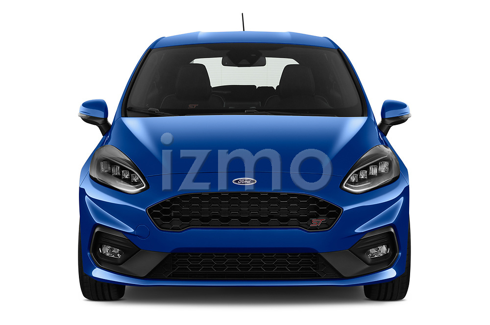 Car photography straight front view of a 2018 Ford fiesta st Ultimate 5 Door Hatchback