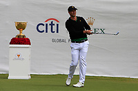 Adam Scott (International) on the 1st tee during the Second Round - Foursomes of the Presidents Cup 2019, Royal Melbourne Golf Club, Melbourne, Victoria, Australia. 13/12/2019.<br /> Picture Thos Caffrey / Golffile.ie<br /> <br /> All photo usage must carry mandatory copyright credit (© Golffile | Thos Caffrey)