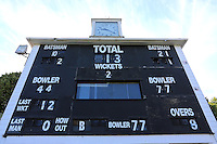 General view of the scoreboard ahead of Leicestershire CCC vs Essex CCC, Specsavers County Championship Division 2 Cricket at the Fischer County Ground, Grace Road on 24th August 2016