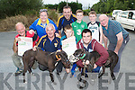 Cordal GAA are holding a Monster Greyhound Rag meeting on Sunday 24th August to raise funds for their picture development l-r: Domo Kirwin, Nora Fealey, Charlie Farrelly, Richard O'Donoghue, Bill Reidy, Nathan O'Rourke Sean Fealey Sean O'Sullivan and Tom Wrenn