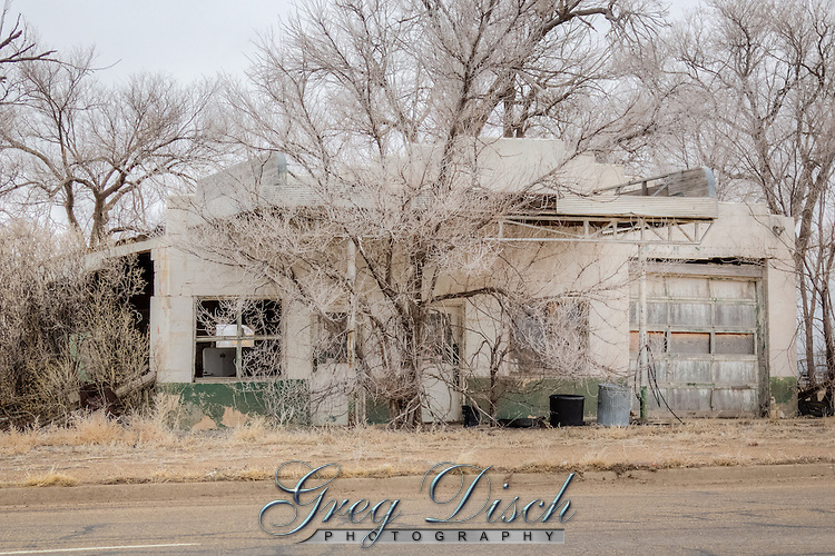 Abandoned Gas Station in Adrian Texas on Route 66.