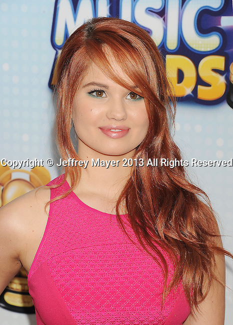 LOS ANGELES, CA- APRIL 27: Actress Debby Ryan arrives at the 2013 Radio Disney Music Awards at Nokia Theatre L.A. Live on April 27, 2013 in Los Angeles, California.