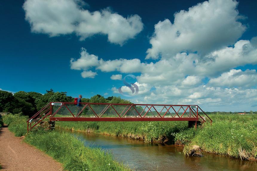 Footbridge over the Biel Water on the John Muir Way, Dunbar, East Lothian