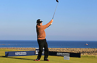 JP McManus (AM) on the 12th tee during Round 2 of the 2015 Alfred Dunhill Links Championship at Kingsbarns in Scotland on 2/10/15.<br /> Picture: Thos Caffrey | Golffile
