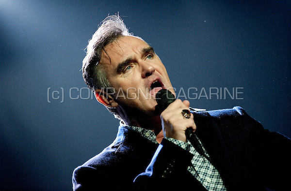 British singer Morrissey performing with his Swords Tour in Forest National, Brussels (Belgium, 14/11/2009)