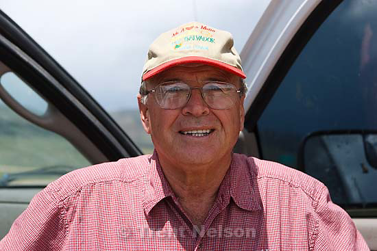 Raymond Richins at Taylor Hollow, overlooking some of the 2800 acres being preserved near Henefer with a conservation easement Tuesday May 26, 2009