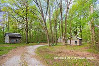 63895-15819 Cabins at Log Cabin Village in spring Kinmundy IL