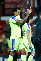 Tom Huddlestone of Derby County applauds the travelling support during the Sky Bet Championship match between Brentford and Derby County at Griffin Park, London, England on 26 September 2017. Photo by Carlton Myrie / PRiME Media Images.