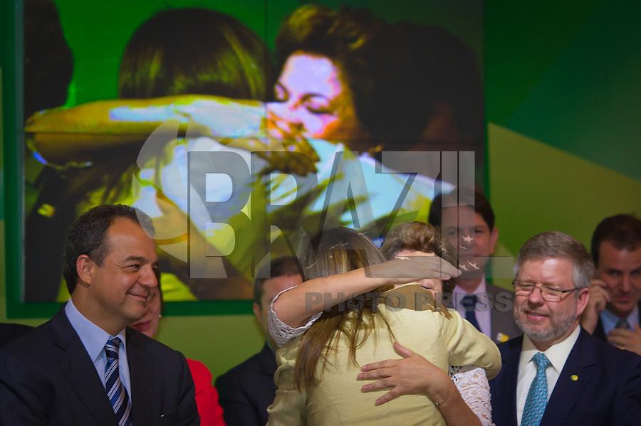 RIO DE JANEIRO, RJ, 13 DE FEVEREIRO DE 2012 - Cerimônia de Posse da nova Presidente da Petrobrás  - A nova Presidente da Petrobras, Graça Foster, recebe cumprimentos da Presidente do Brasil, Dilma Roussef, na cerimônia de tomada de posse, na sede da Petrobras.<br /> FOTO GLAICON EMRICH - NEWS FR