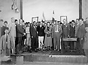 Syria 1938? .First rank 4th from left, Geladet Bedir Khan , French teacher at The Franco-Syrian school with French officials visiting the school .Syrie 1938? .Premier rang, 4eme a gauche, Geladet Bedir Khan, professeur de Francais a l'ecole Franco-Syrienne avec des officiels francais visitant l'ecole