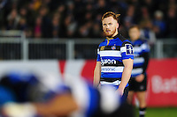 Rory Jennings of Bath Rugby watches a scrum. Anglo-Welsh Cup match, between Bath Rugby and Leicester Tigers on November 4, 2016 at the Recreation Ground in Bath, England. Photo by: Patrick Khachfe / Onside Images