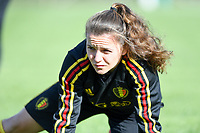 20190228 - LARNACA , CYPRUS : Belgian Davina Philtjens pictured during a Matchday -1 training from The Belgian Red Flames prior to their game against the women team of Austria , on Thursday 28 February 2019 at the Alpha Sports Grounds in Larnaca , Cyprus . This will be the second game in group C for Belgium during the Cyprus Womens Cup 2019 , a prestigious women soccer tournament as a preparation on the European Championship 2021 qualification duels. PHOTO SPORTPIX.BE | DAVID CATRY