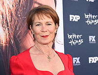 "NORTH HOLLYWOOD, CA - APRIL 19: Celia Imrie attends the For Your Consideration Red Carpet event for FX's ""Better Things"" at the Wolf Theatre at Saban Media Center on April 19, 2018 in North Hollywood, California. (Photo by Frank Micelotta/FX/PictureGroup)"