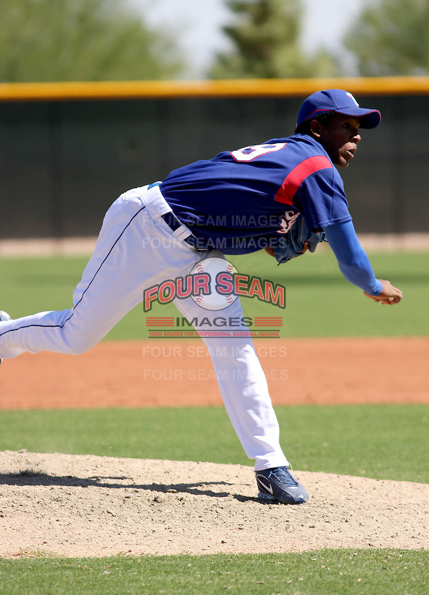 Neftali Feliz / Texas Rangers instructional league..Photo by:  Bill Mitchell/Four Seam Images