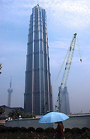 Jin Mao Tower in the Pudong area in Shanghai, China..