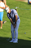 Lee Westwood (ENG) chips onto the 18th green during Thursday's Round 1 of the 2018 Turkish Airlines Open hosted by Regnum Carya Golf &amp; Spa Resort, Antalya, Turkey. 1st November 2018.<br /> Picture: Eoin Clarke | Golffile<br /> <br /> <br /> All photos usage must carry mandatory copyright credit (&copy; Golffile | Eoin Clarke)