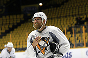 June 11th 2017, Nashville, TN, USA;  Pittsburgh Penguins right wing Patric Hornqvist (72) is shown during the morning skate prior to Game 6 of the Stanley Cup Final between the Nashville Predators and the Pittsburgh Penguins, held on June 11, 2017, at Bridgestone Arena in Nashville, Tennessee.