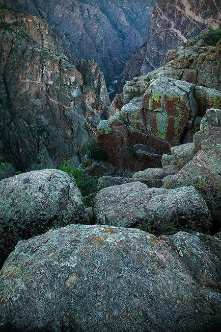 Summer vista of Black Canyon of the Gunnison