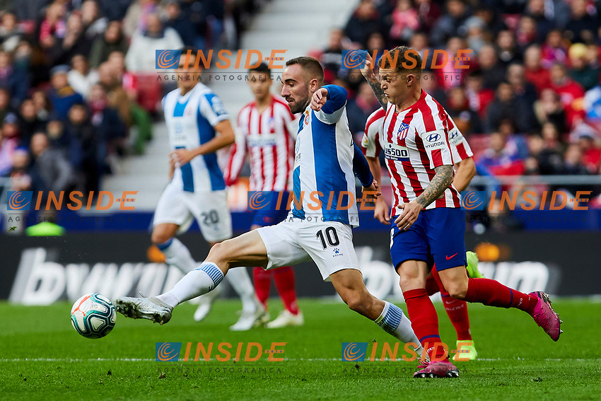 Kieran Trippier of Atletico de Madrid and Sergi Darder of RCD Espanyol during La Liga match between Atletico de Madrid and RCD Espanyol at Wanda Metropolitano Stadium in Madrid, Spain. November 10, 2019. (ALTERPHOTOS/A. Perez Meca)<br /> Liga Spagna 2019/2020 <br /> Atletico Madrid - Espanyol <br /> Photo Alterphotos / Insidefoto <br /> ITALY ONLY