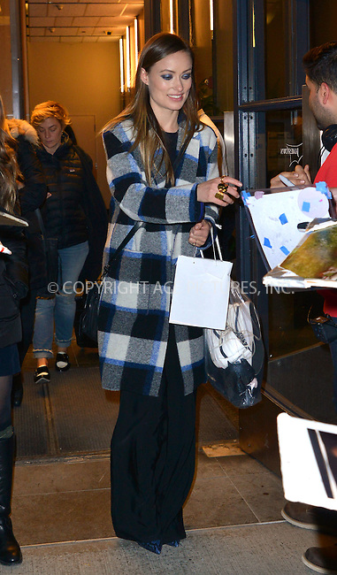 WWW.ACEPIXS.COM<br /> <br /> February 9 2016, New York City<br /> <br /> Actress Olivia Wilde made an appearance at Watch What Happens Live on February 9 2016 in New York City<br /> <br /> By Line: Curtis Means/ACE Pictures<br /> <br /> <br /> ACE Pictures, Inc.<br /> tel: 646 769 0430<br /> Email: info@acepixs.com<br /> www.acepixs.com