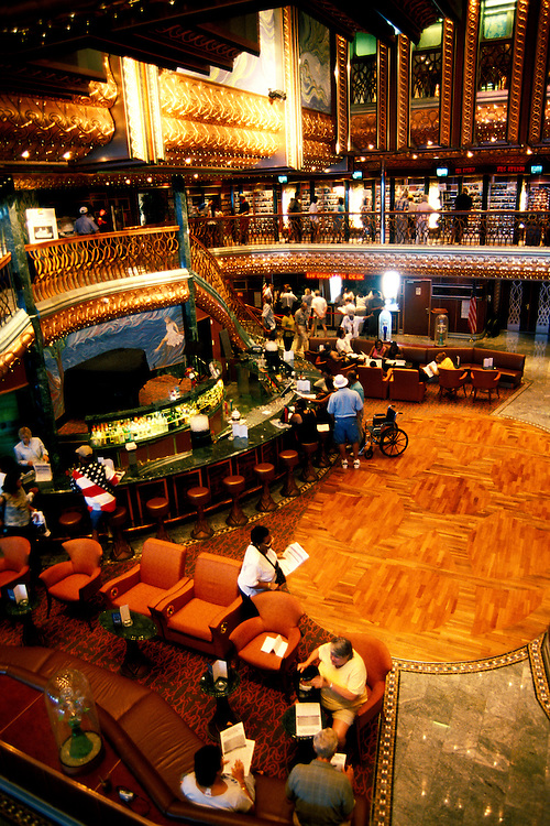 Cruise Ship: Carnival Spirit Lobby Bar, Photo: carniv101  .Photo copyright Lee Foster, 510/549-2202,  lee@fostertravel.com, www.fostertravel.com