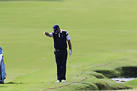 Thomas Bjorn (DEN) takes a penalty drop on the 18th hole during Friday's Round 2 of the 2017 PGA Championship held at Quail Hollow Golf Club, Charlotte, North Carolina, USA. 11th August 2017.<br /> Picture: Eoin Clarke | Golffile<br /> <br /> <br /> All photos usage must carry mandatory copyright credit (&copy; Golffile | Eoin Clarke)
