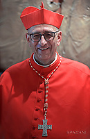 Cardinal Juan Jos&eacute; Omella of Spain.Pope Francis leads a consistory for the creation of five new cardinals  at St Peter's basilica in Vatican.  from countries  : El Salvador, Laos, Mali,Sweden and Spain.<br /> Cardinal Gregorio Rosa Chavez from Salvador;Cardinal Louis-Marie Ling Mangkhanekhoun from Laos;Cardinal Anders Arborelius from Sweden;Cardinal Jean Zerbo from Mali;Cardinal Juan Jos&eacute; Omella of Spain.on June 28, 2017