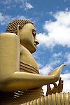 Giant Golden Buddha statue at Dambulla cave temple complex, Sri Lanka, Asia