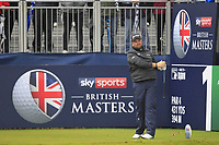 Shane Lowry (IRL) on the 1st tee during Round 4 of the Sky Sports British Masters at Walton Heath Golf Club in Tadworth, Surrey, England on Sunday 14th Oct 2018.<br />
