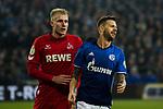 19.12.2017, Veltins-Arena , Gelsenkirchen, GER, DFB Pokal Achtelfinale, FC Schalke 04 vs 1. FC K&ouml;ln<br /> , <br /> <br /> im Bild | pictures shows:<br /> vl. Dominique Heintz (1.FC Koeln #3) mit entt&auml;uschtem Guido Burgstaller (FC Schalke 04 #19), <br /> <br /> Foto &copy; nordphoto / Rauch