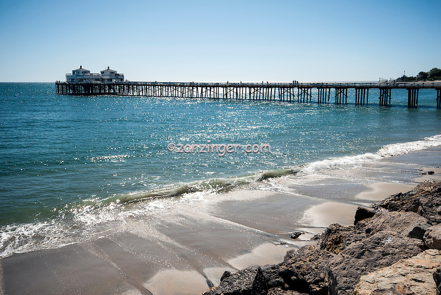 Malibu Pier, Malibu CA, Pacific, Ocean, , Southern California icon,  historic landmark,