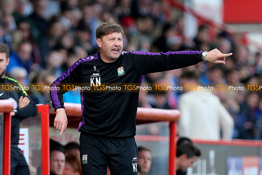 Barnet manager Kevin Nugent during Stevenage vs Barnet, Sky Bet EFL League 2 Football at the Lamex Stadium on 1st April 2017