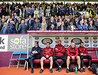 Arsenal manager Unai Emery takes his seat<br /> <br /> Photographer Alex Dodd/CameraSport<br /> <br /> The Premier League - Burnley v Arsenal - Sunday 12th May 2019 - Turf Moor - Burnley<br /> <br /> World Copyright &copy; 2019 CameraSport. All rights reserved. 43 Linden Ave. Countesthorpe. Leicester. England. LE8 5PG - Tel: +44 (0) 116 277 4147 - admin@camerasport.com - www.camerasport.com