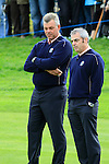 Vice Captains Darren Clarke and Paul McGinley during Practice Day 3 of the The 2010 Ryder Cup at the Celtic Manor, Newport, Wales, 29th September 2010..(Picture Eoin Clarke/www.golffile.ie)