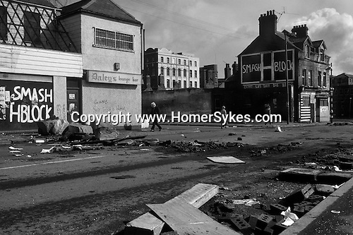 Ireland The Troubles. The morning after the predominatly Catholic Falls Road area  experienced  		a night of rioting. 1981 1.