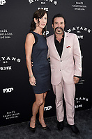 """LOS ANGELES - AUGUST 27: Michael Irby and Susan Elena Matus attend the season two red carpet premiere of FX's """"Mayans M.C"""" at the ArcLight Dome on August 27, 2019 in Los Angeles, California. (Photo by Scott Kirkland/FX/PictureGroup)"""