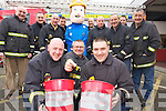 The Tralee Fire service annual collection in aid of Recovery Haven and Alzheimer's Branch Tralee will take place in Manor west shopping centre on the 16th December and Sunday 23rd in Tralee town centre. Front from left: PJ O'Dowd, Nigel Corner and Nathan Tadier. Back from left: John O'Donnell, David Hogan, Tommy Kelliher, Mark Ryall, Fireman Sam, Gareth Elbell, Michael Collins, Maurice Griffin, Bill Lawlor and Brian Kivergan.