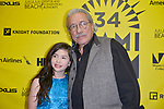 MIAMI BEACH, FL - MARCH 09: Actor Kelea Skelton and Actor/Producer/Director Edward James Olmos attends the Miami Dade College's: Miami Film Festival for 'Monday Nights At Seven' at O Cinema Miami Beach on March 9, 2017 in Miami, Florida. ( Photo by Johnny Louis / jlnphotography.com )