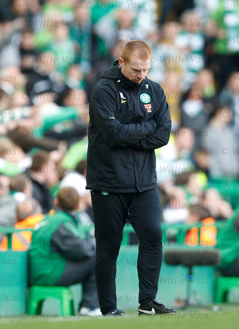 Neil Lennon after goal no 3 goes in for Rangers