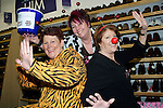 Pix: Shaun Flannery/shaunflanneryphotography.com...COPYRIGHT PICTURE>>SHAUN FLANNERY>01302-570814>>07778315553>>..19th March 2011...............Lakeside Village, Doncaster..Comic Relief Event..L-R Sandra Pollock, Tracy Ewing, Diane Moore of Pavers.