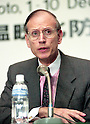 U.S. chief  negotiiator  Stuart Eizenstat, at the United Nations Framework Convention on Climate Change in Kyoto (COP3) on December 9, 1997, in Kyoto, Japan. (Photo by Natsuki Sakai/AFLO)