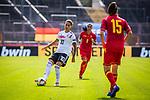 31.08.2019, Auestadion, Kassel, GER, DFB Frauen, EM Qualifikation, Deutschland vs Montenegro , DFB REGULATIONS PROHIBIT ANY USE OF PHOTOGRAPHS AS IMAGE SEQUENCES AND/OR QUASI-VIDEO<br /> <br /> im Bild | picture shows:<br /> Dzsenifer Marozsan (DFB Frauen #10) mit Helena Bozic (Montenegro #15), <br /> <br /> Foto © nordphoto / Rauch