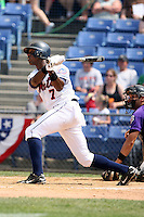 July 7th 2008:  Ambiorix Concepcion of the Binghamton Mets, Class-AA affiliate of the New York Mets, during a game at NYSEG Stadium in Binghamton, NY.  Photo by:  Mike Janes/Four Seam Images